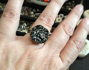 Ring,Unique Mosaic Jewelry,Adjustable, OOAK