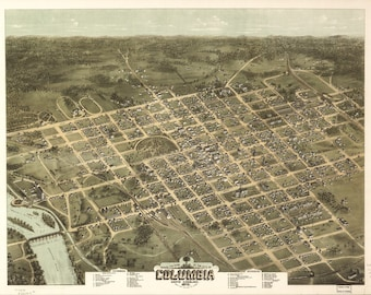 Vintage Map - Columbia, South Carolina 1872