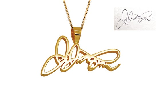 Custom signature jewelry 14k personalized gold necklace in aloadofball Gallery