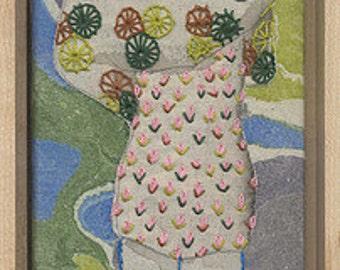 Modern Embroidery Painting Handmade Wall Art, Fine Art Home Decor