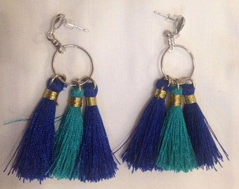 Tassel Blue earrings