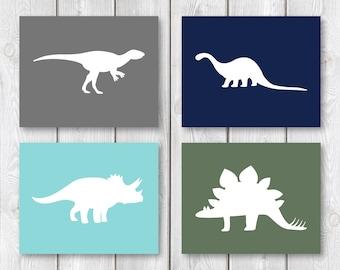 """Dinosaur Bedroom 8""""x10"""" Printable Sign Set    Dinosaur Wall Art    Boy Bedroom Decor, Dinosaur Nursery Wall Art Decor (DIGITAL PRODUCT)"""