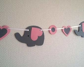 "Garland banner ""elephants"""