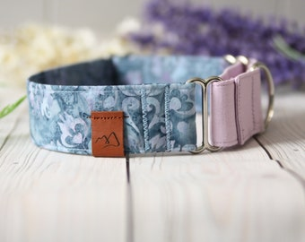 ISABELLE Dog Collar - Girl Dog Collar - Martingale - Puppy Collar - Purple Collar - Spring Collar