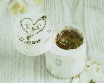 Personalised Wooden Ring Box  * Ring Box * Jewellery Box * Wedding Engagement Ring Box