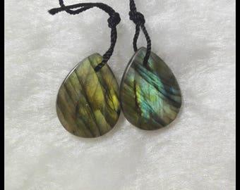 Labradorite Earrings Beads~~ Natural Gemstone Earring Beads,Drop Earrings