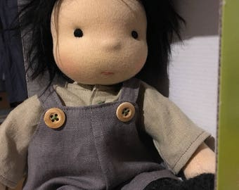 """boy doll with linen clothes  13"""" waldorf *"""