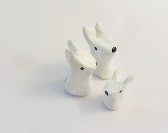 Miniature rabbit family