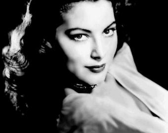 1930s-1940s Era Actress Ava Gardner-Black and White