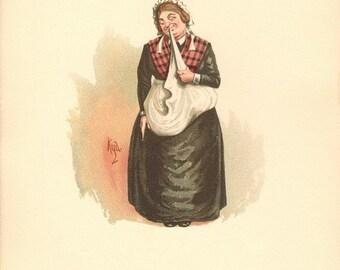 Martha Bardell, Mrs. Bardell, Mrs. Bardell Illustration, Mrs. Bardell Wall Decor, Mrs. Bardell Digital Print, Mrs. Bardell Poster Print
