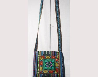 Hand made cross stitch bag cross body