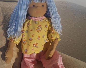 Waldorf style handmade rag doll