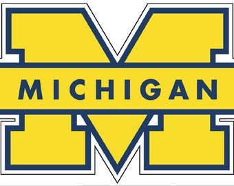 "University Of Michigan 4"" to 14"" Full color vinyl decal sticker"