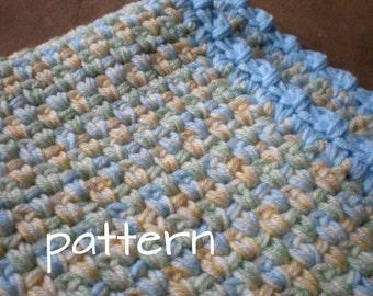 Easy Crochet Baby Blanket - Pretty Pasterls Quick & Cozy - PDF Pattern