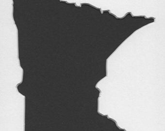 Pack of 3 Minnesota State Stencils, Made from 4 Ply Mat Board 18x24, 16x20 and 11x14 -Package includes One of Each Size