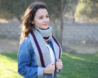 Winter Crochet scarf, Women winter scarf, Women Long scarf, Women Crochet scarf, Women wool scarf, Women knit scarf, Wool crochet scarf