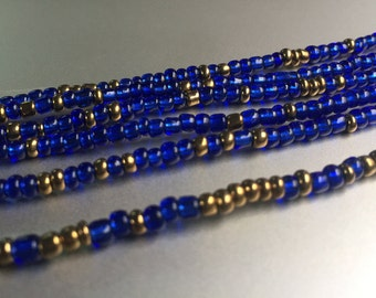"""AFRICAN WAIST BEADS --  Nobles -- 43""""   : Seed Beads, Glass beads, African Beads, Toma Beads -- 43"""""""