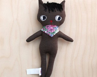 Réglisse - cat doll - cat plush -