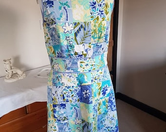 Summer Dress in 1950s style Novelty Print