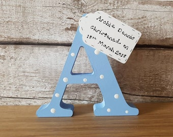 New baby gift Christening gift Present for new born personalised wooden letter