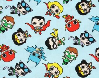 Justice League Super Heroes Character Fabric made in Korea, DC Comics Fabric / Half Yard