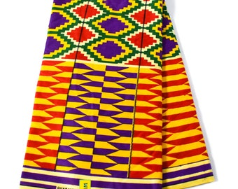 Ama Sewa Authentic Ghana Kente cloth 6 yards/ Kente fabric/ Made in Ghana/ Original kente/ Ankara print fabric/ African Print Fabric/ KF344