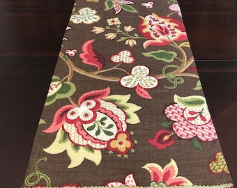 58in Floral Cotton Table Runner