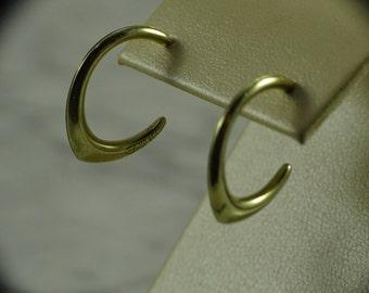 14K Yellow Gold Earrings (pierced)