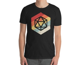 Retro Dice Roleplaying Game / Boardgame Gift - D20 T-Shirt