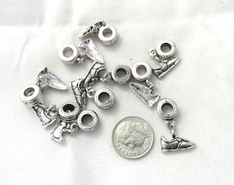 10 Pc Tennis Shoe Euro Style Dangle Charm Set (B156a1)