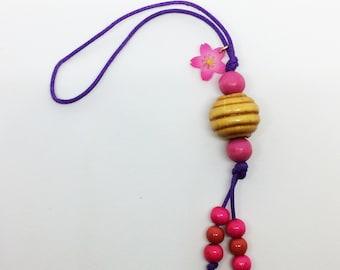 utopia cherry blossoms (sakura) strap keychain/cell phone accessory