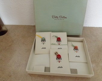 Betty Button Originals Box With Bridge Score Cards