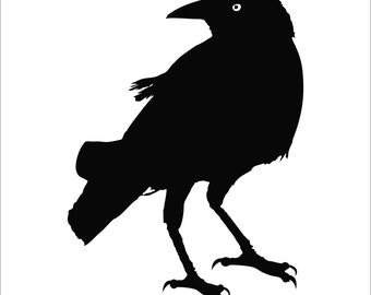 Crow Raven Blackbird Decal Sticker Car Decal Laptop Decal - Choice of Colors & Sizes