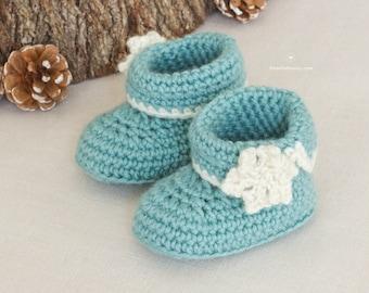 CROCHET PATTERN - Winter Wonderland Baby Booties