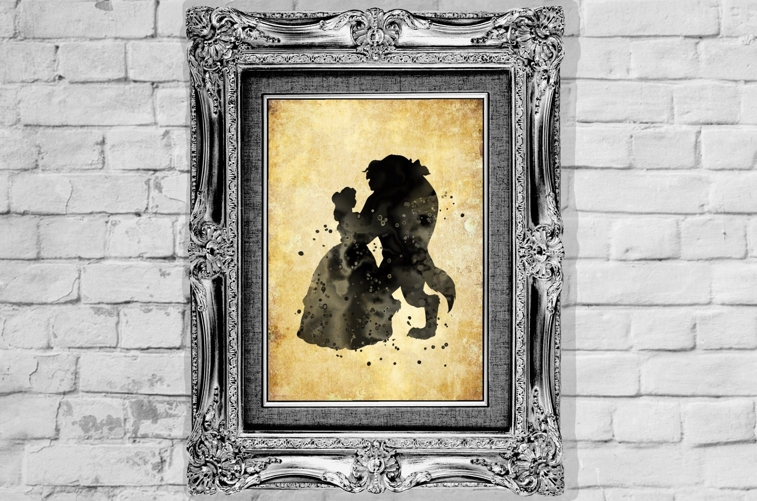 Disney Poster Beauty and the Beast Poster Belle Watercolor