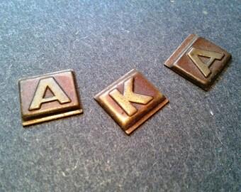 "Brass Letter Inserts ""AKA"""