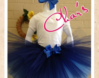 Tri-Color Blue Layered Tutu. Birthday Tutu, Infant/Girls, Photo Prop