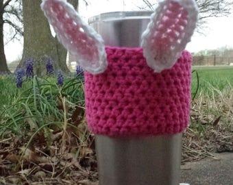 Easter Bunny Cup Cozy, Bunny Cup Cozy, Crochet Cup Cozy, Cup Cozy