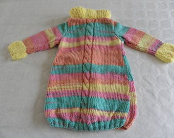 multicolored dress with yellow collar 18 months