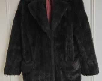 Faux fur vintage cosy winter coat UK14