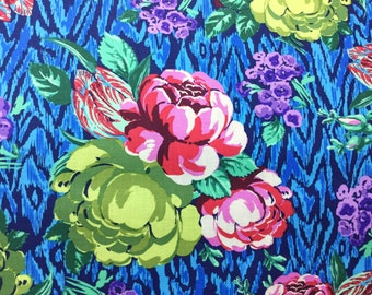 Hapi Tapestry Rose Sapphire Color ~ Amy Butler Cotton Quilt Fabric