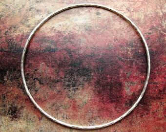 Antiqued Sterling Silver Hammered Bangle - 1 piece - 14 gauge - 2.5 inch diameter