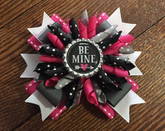 Valentines Korker Stacked Hair Bow