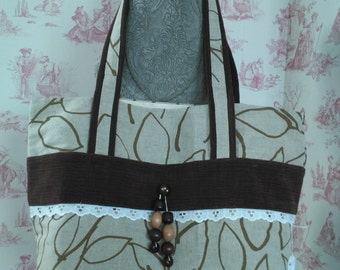 Large handles tote bag