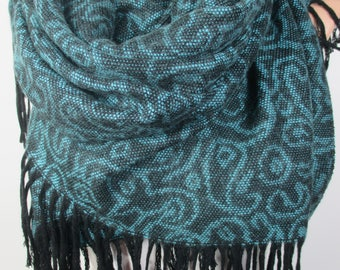 Teal Blue Blanket Scarf Winter Scarf Shawl Women Accessories Gift For Her Gift For Mom Women Scarves Gift For Women Mothers Day Gift Shawl