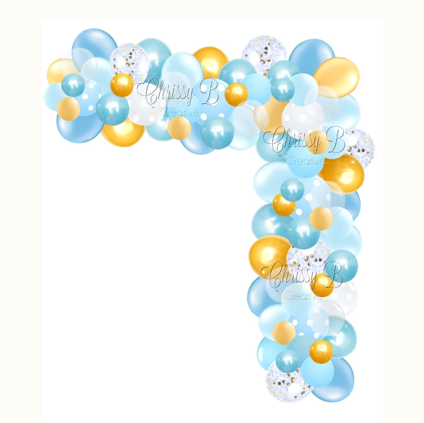 DIY Balloon Garland Kit In Blue And Gold Makes A Full 12