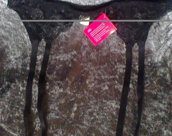 Garter/ Suspender belt,brand new, black lace, size M/L, Rocky Horror, fashion, costume, fancy dress etc,..