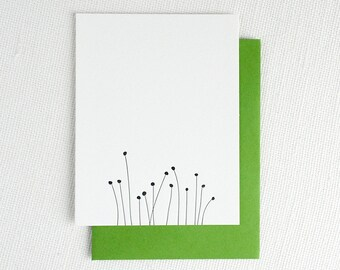 Spring Sprouts Note Card