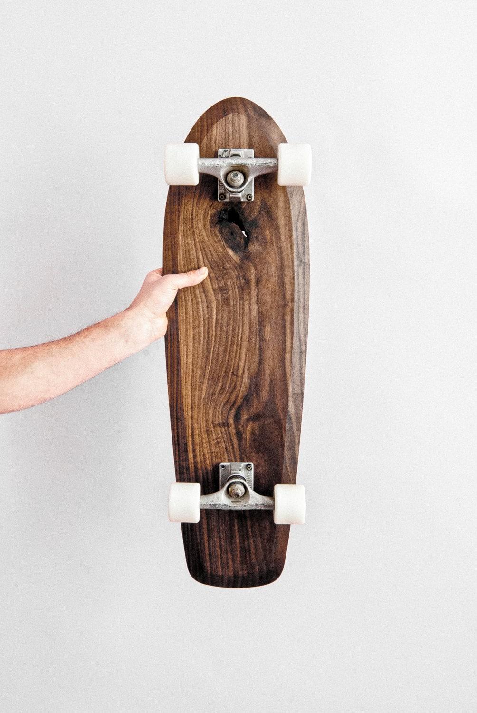 Skateboard Cruiser Holz Skateboard Walnuss Nussbaum
