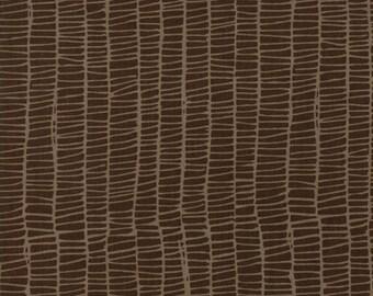 Merrily Winter Weave in Chocolate Brown,  Gingiber, 100% Cotton, Moda Fabrics, 48215 18